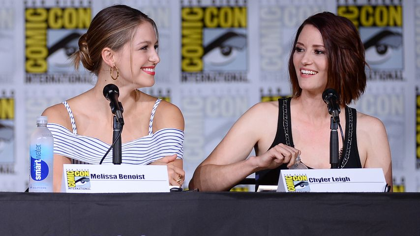 """Die """"Supergirl""""-Darstellerinnen Melissa Benoist und Chyler Leigh"""
