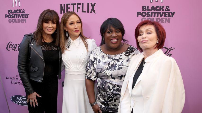 """Die """"The Talk""""-Moderatorinnen Marie Osmond, Carrie Ann Inaba, Sheryl Underwood, und Sharon Osbourne"""