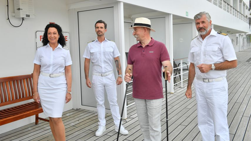 Barbara Wussow, TV-Kapitän Florian Silbereisen, Horst Lichter und Daniel Morgenroth