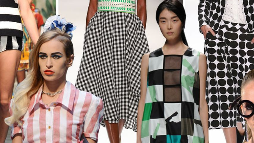 Fashion Week Trend-View: Punkte, Streifen & Karos