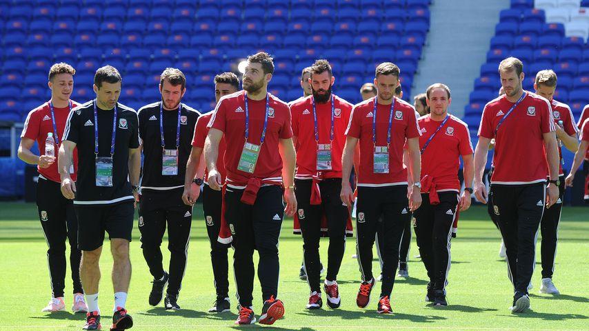 Die walisische Mannschaft bei der Fussball-EM 2016