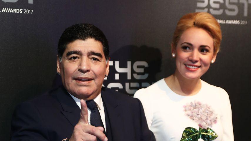 Diego Maradona und Rocio Oliva bei den FIFA Football Awards