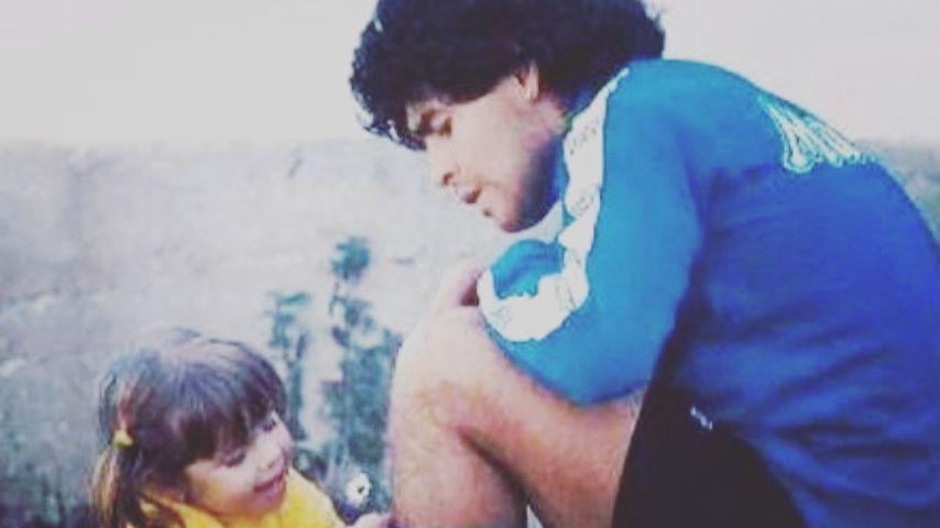Diego Maradona und seine Tochter Dalma in jüngeren Jahren