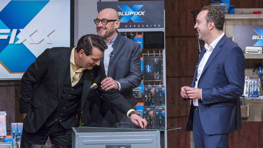 """Dinko Jurcevic mit Jochen Schweizer und Ralf Dümmel bei """"Die Höhle der Löwen"""""""