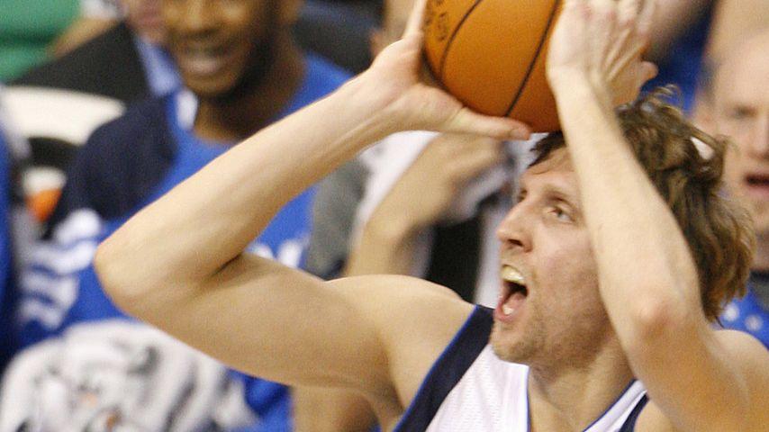 Dirk Nowitzki bei einem Spiel für Dallas Mavericks