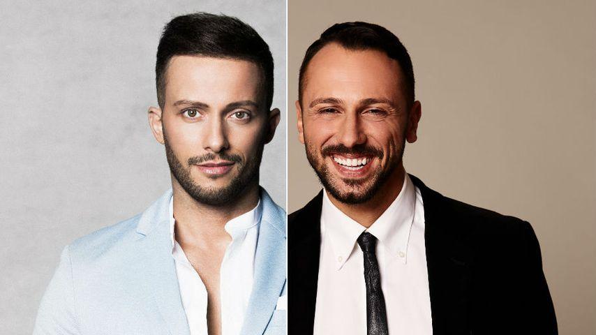 """Collage: Domenico de Cicco und Jorgo Alatsas, """"Die Bachelorette""""-Kandidaten von 2017 und 2018"""