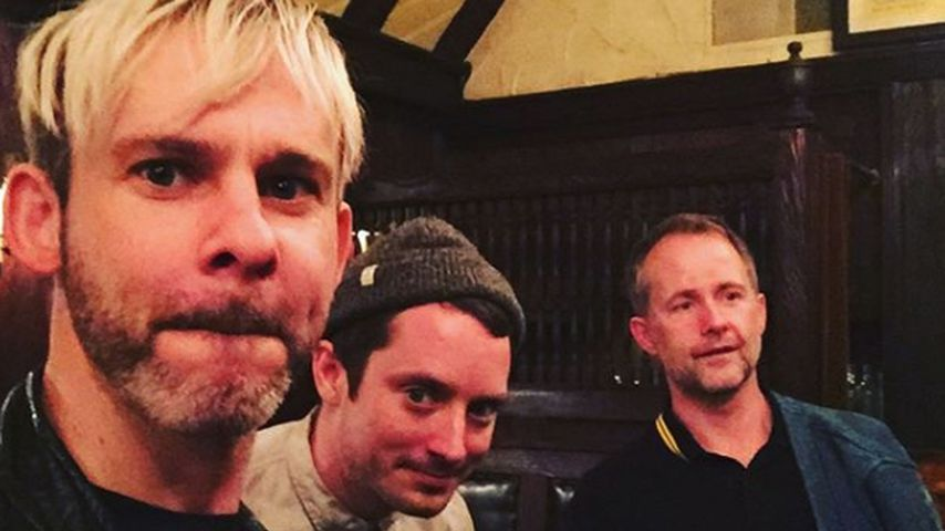 Dominic Monaghan, Elijah Wood und Billy Boyd, v.l.n.r.