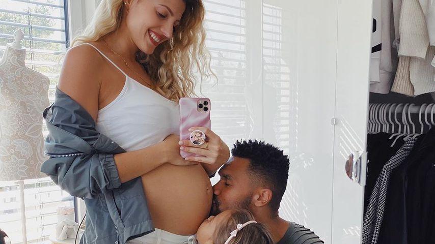 Süßer Schnappschuss: Harrisons warten sehnsüchtig aufs Baby