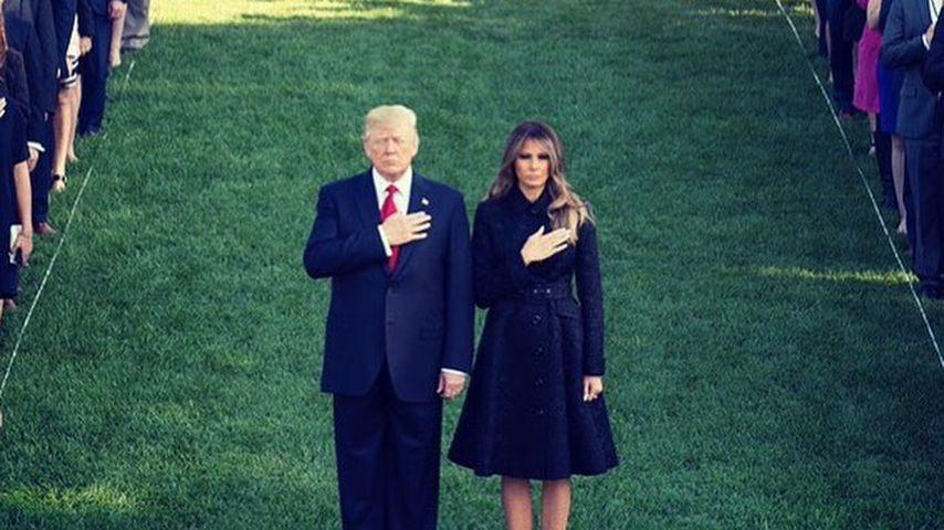 Donald Trump, Präsident der USA, mit seiner Frau Melania