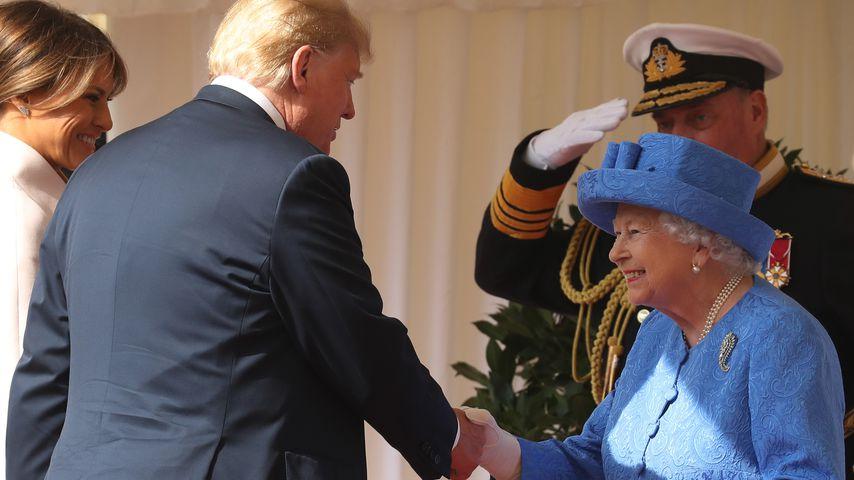 Erstmaliges Treffen: Donald Trump besucht Queen Elizabeth