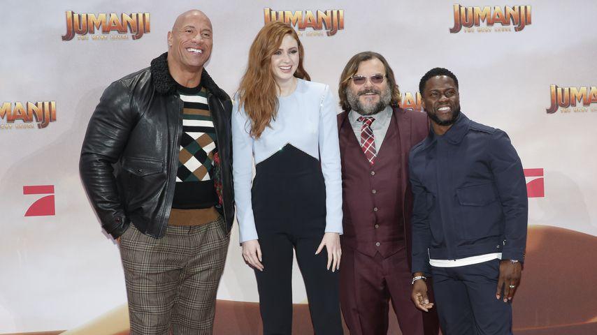"""Mit Dwayne Johnson und Kevin Hart: """"Jumanji""""-Stars in Berlin"""