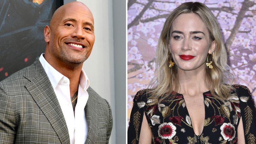 """""""The Rock"""" kriegt 11 Mio. Euro mehr als Co-Star Emily Blunt!"""