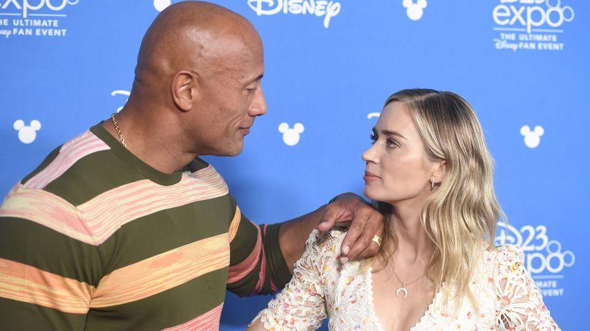 Dwayne Johnson und Emily Blunt, Schauspieler