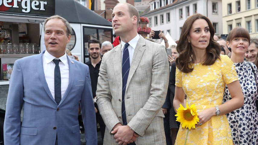 Heidelbergs Bürgermeister Eckart Würzner mit Prinz William und Herzogin Kate