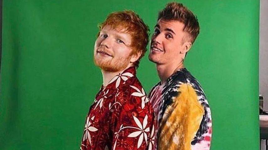 Ed Sheeran und Justin Bieber
