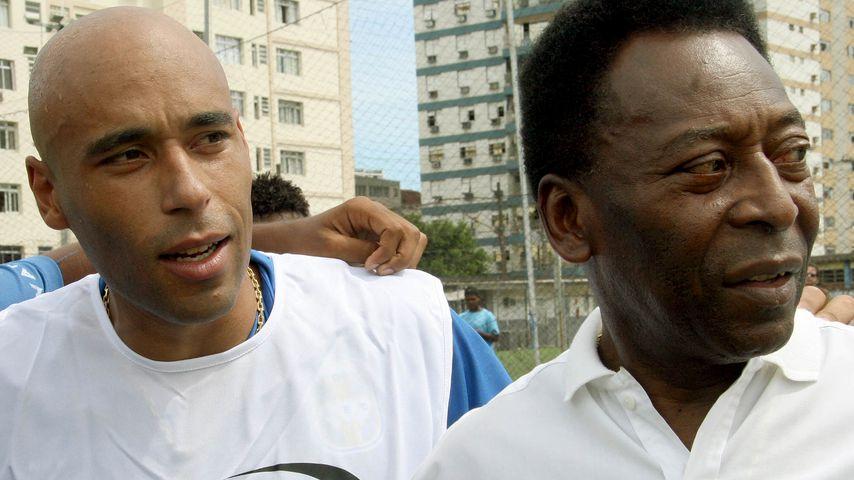 Edinho und Pelé im Mai 2014
