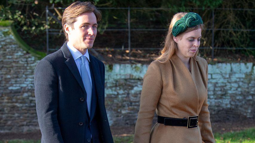 Edoardo Mapelli Mozzi und seine Verlobte, Prinzessin Beatrice, im Dezember 2019