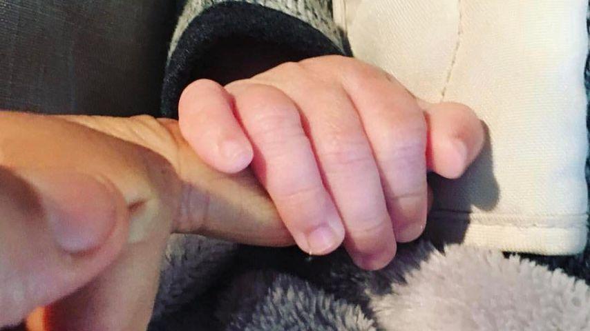 Ein Babyfoto, vielleicht von Cheryl Coles und Liam Paynes Baby