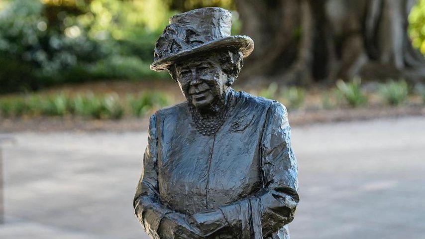 Eine Statue der Queen