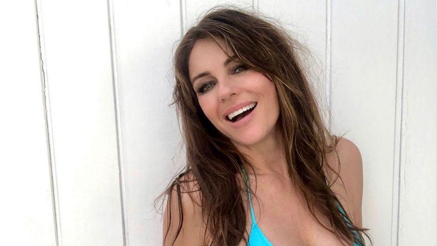 Elizabeth Hurley im Februar 2020