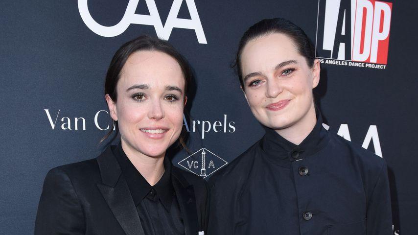 Ellen Page und Emma Portner im Oktober 2017
