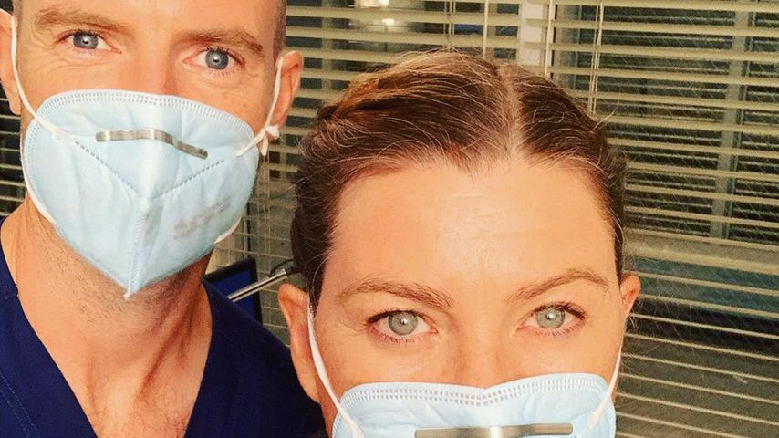 "Ellen Pompeo und Richard Flood am Set von ""Grey's Anatomy"" im September 2020"