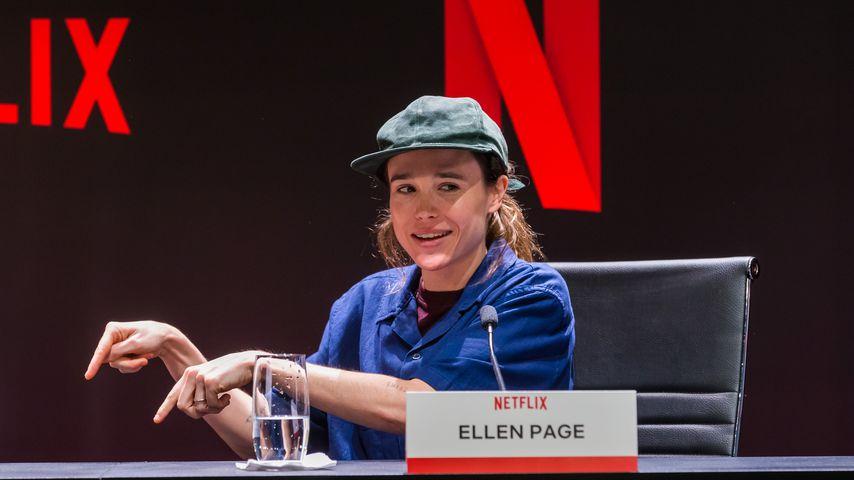 """Elliot Page bei einer Pressekonferenz zur Netflix-Serie """"The Umbrella Academy"""""""