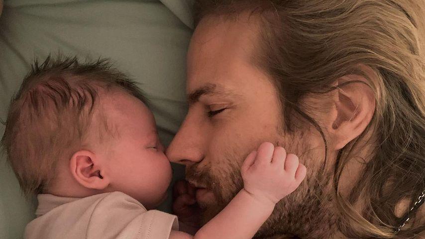 Elsa Hosks Partner Tom Daly und ihr gemeinsames Baby Tuulikki Joan