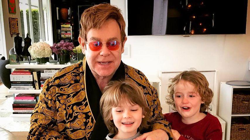 Papa-Sohn-Trio: Elton Johns süßeste Gäste zum 70. Geburtstag