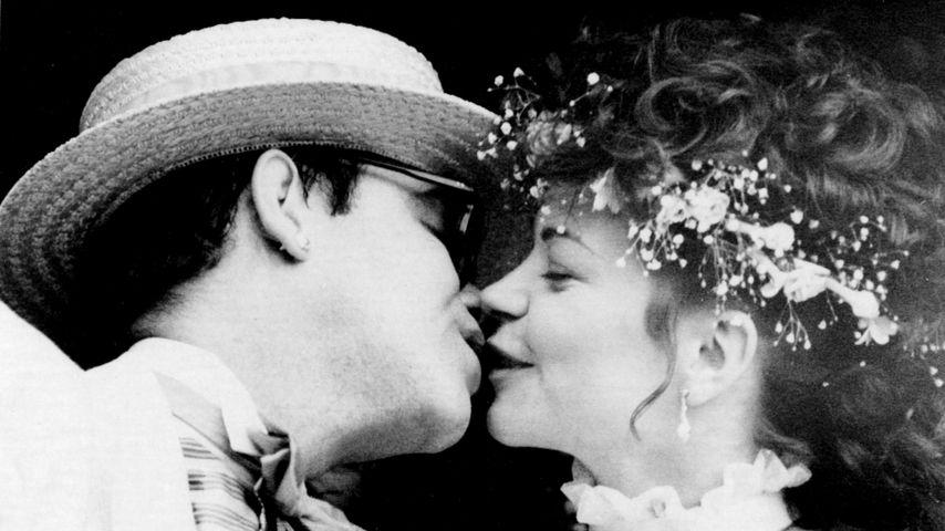 Elton John und Renate Blauel bei ihrer Hochzeit 1984