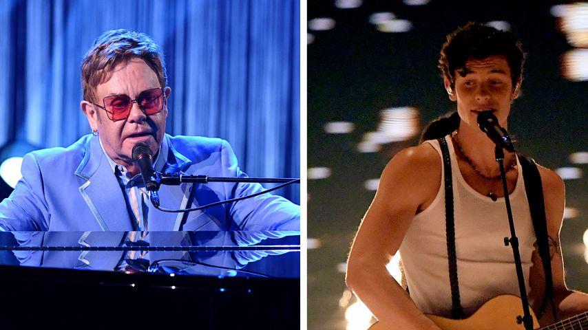Elton John und Shawn Mendes über Schattenseite ihres Erfolgs