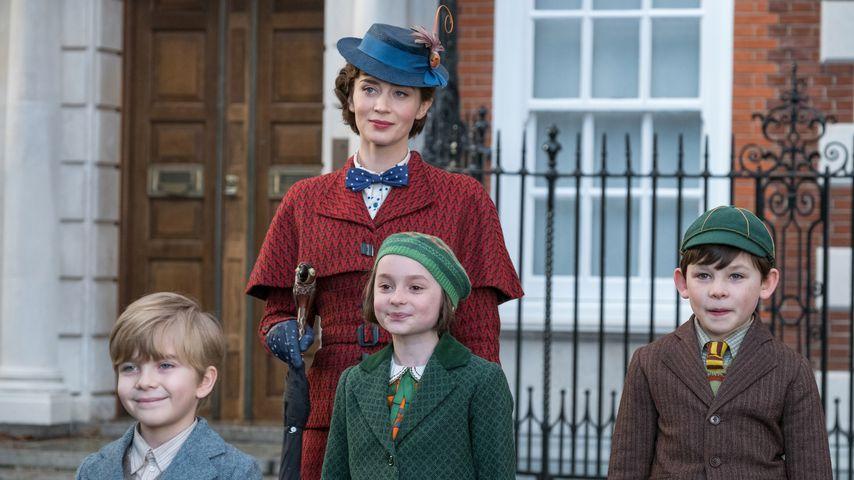 """Emily Blunt, Joel Dawson, Pixie Davies und Nathanael Saleh in """"Mary Poppins' Rückkehr"""""""