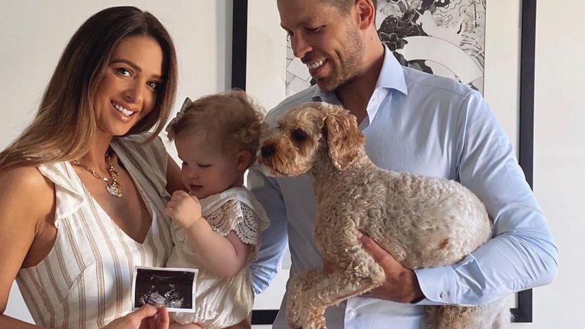 Emily Ghougassian mit ihrer Tochter Laila und ihrem Mann Pierre