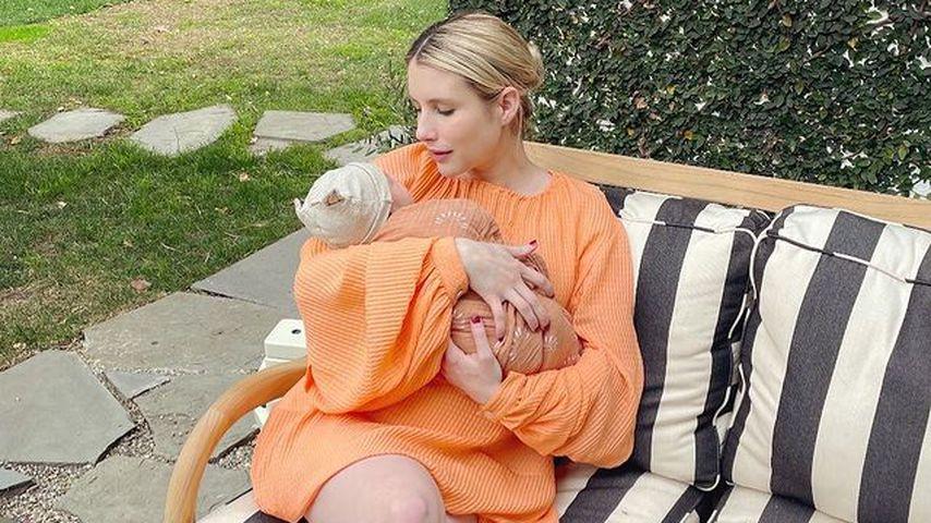 Emma Roberts mit ihrem Baby