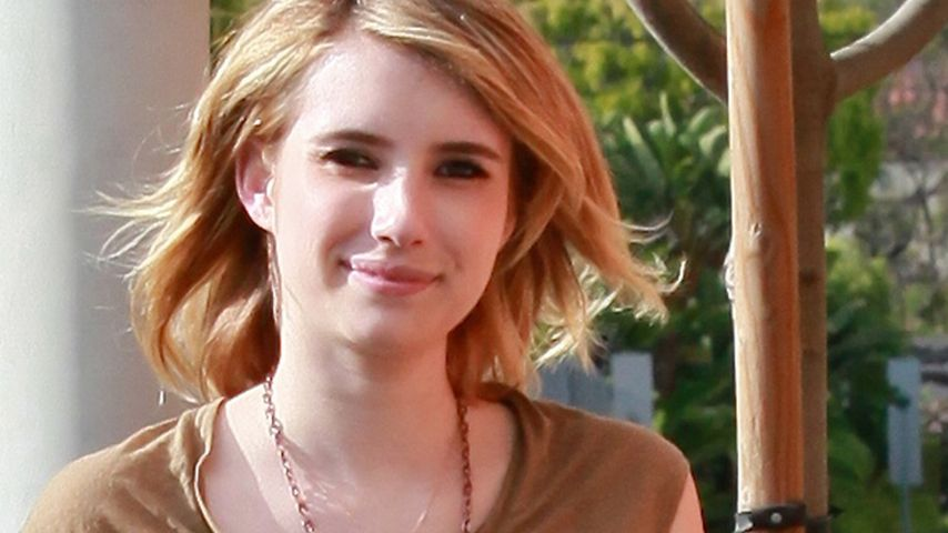 Da ist der BH! Emma Roberts im transparenten Shirt