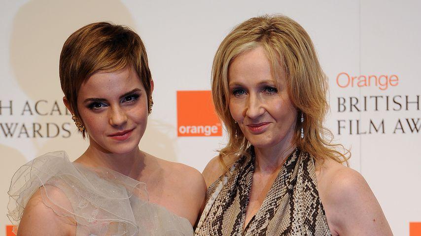 Emma Watson und J.K. Rowling im Februar 2011