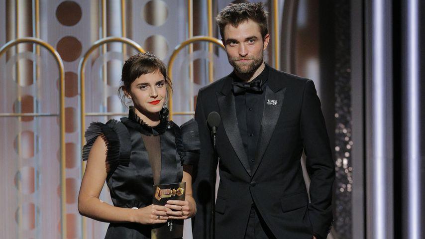 Schauspielerin Emma Watson und Robert Pattinson bei den Golden Globes, 2017