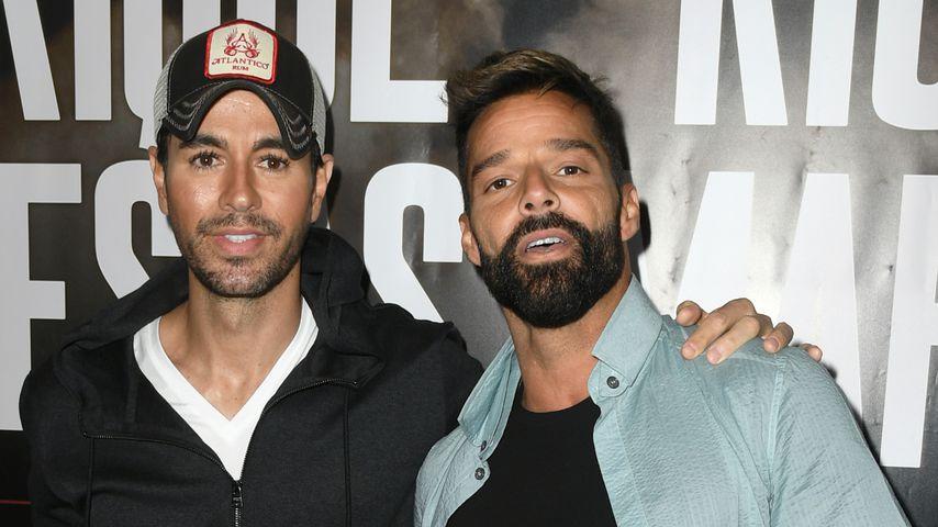 Enrique Iglesias und Ricky Martin im März 2020 in Kalifornien