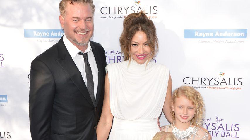 Eric Dane mit seiner Frau Rebecca Gayheart und ihren beiden gemeinsamen Töchtern