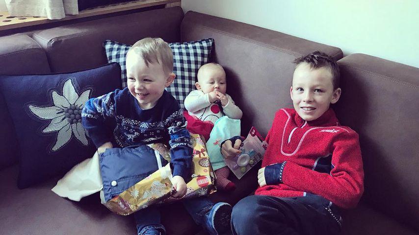 Eric Frenzels Kinder Leopold, Emma und Philipp