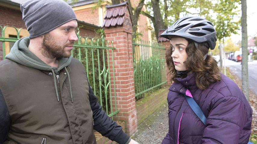 Erik (Patrick Heinrich) und Merle (Ronja Herberich) bei GZSZ
