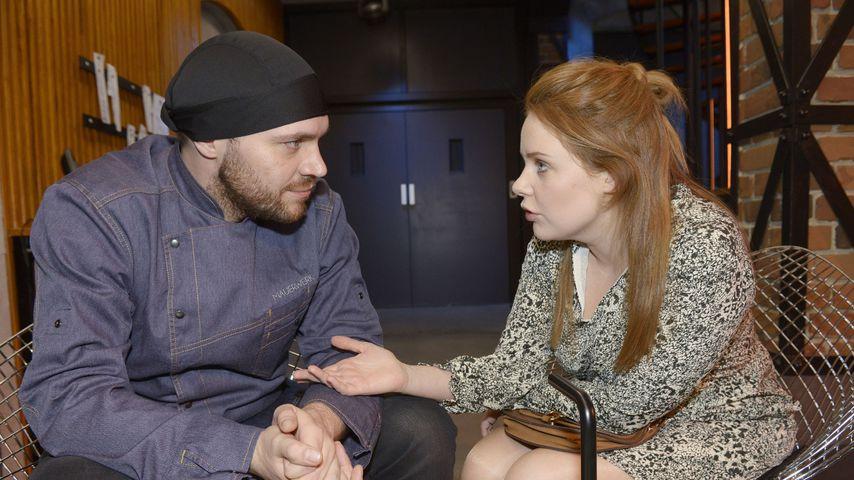 Erik (Patrick Heinrich) und Toni (Olivia Marei) bei GZSZ