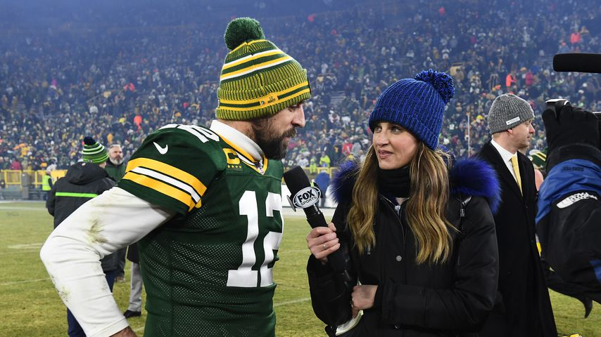 Die Moderatorin Erin Andrews und der Football-Spieler Aaron Rodgers