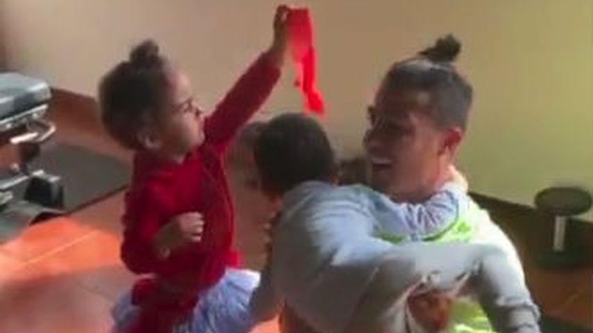 Eva, Cristiano und Mateo Ronaldo
