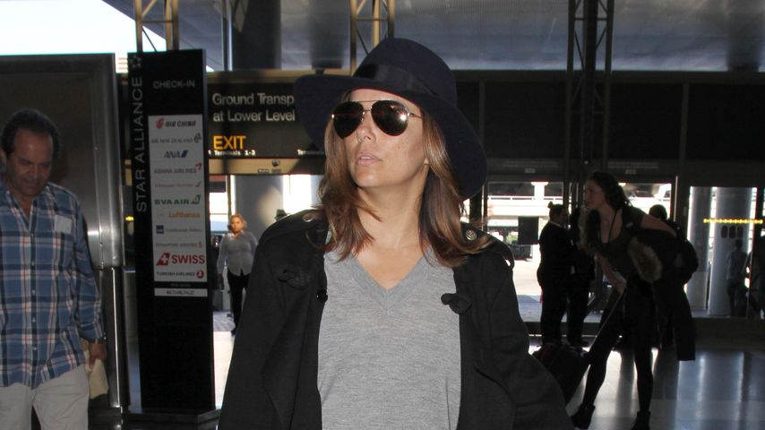Schwanger-Indiz: Versteckt Eva Longoria hier 'nen Babybauch?
