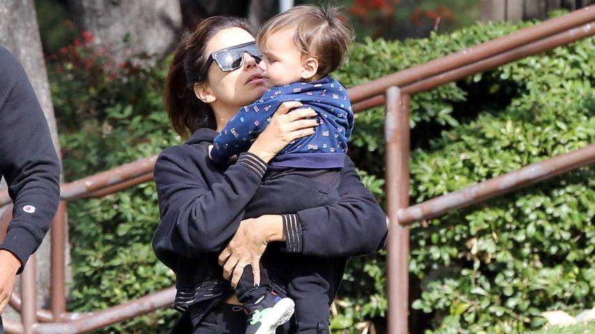Eva Longoria und Santiago, Januar 2020