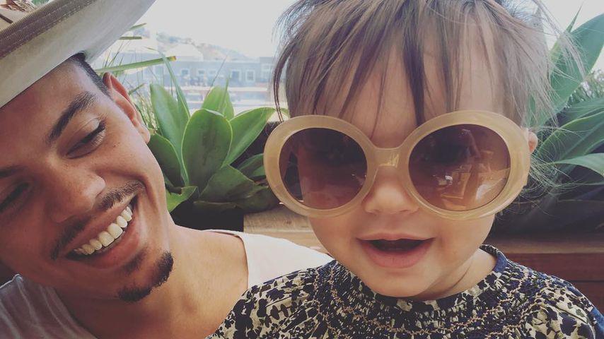 Evan Ross mit seine Tochter Jagger Snow Ross