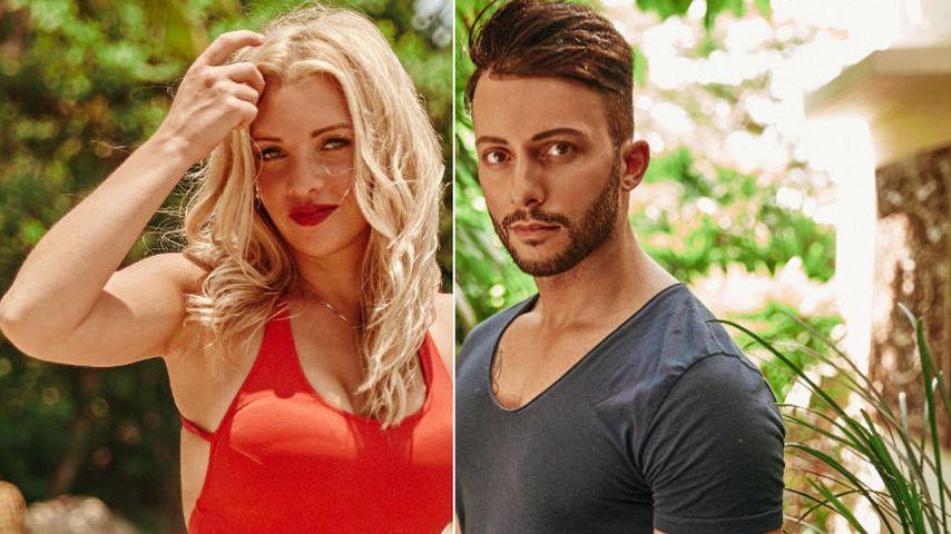 "Collage: Evelyn Burdecki und Domenico De Cicco, ""Bachelor in Paradise""-Kandidaten 2018"