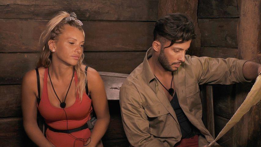 Evelyn Burdecki und Domenico De Cicco im Dschungel-Telefon