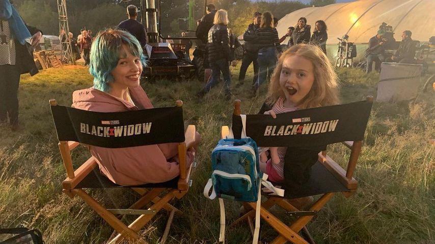 """Ever Gabo Anderson und Violet McGraw am Set von """"Black Widow"""""""